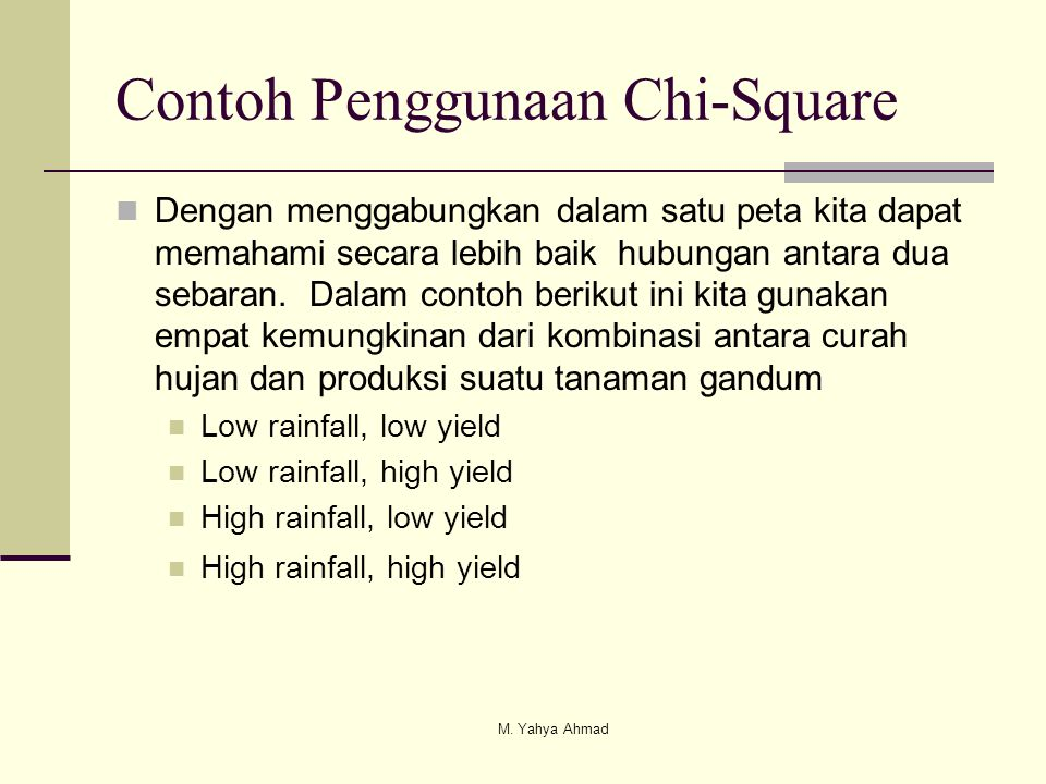 Contoh Penggunaan Chi-Square