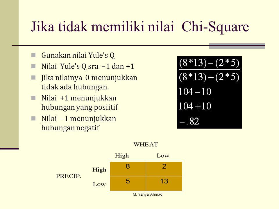Jika tidak memiliki nilai Chi-Square