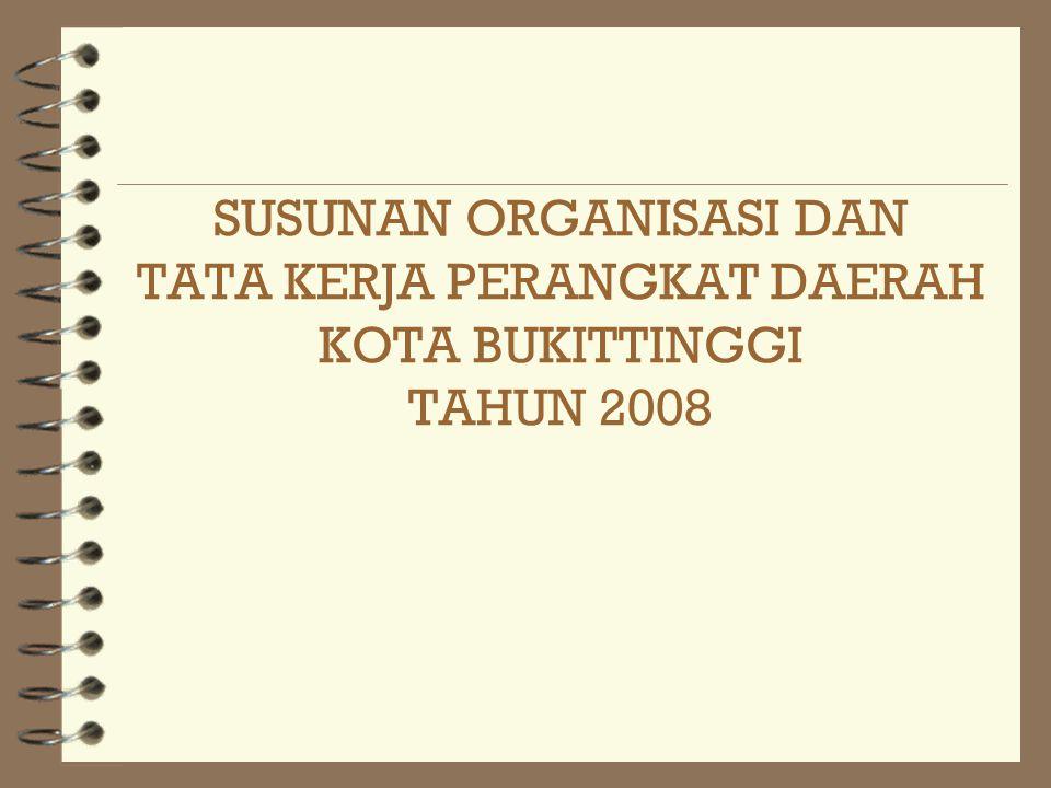 SUSUNAN ORGANISASI DAN TATA KERJA PERANGKAT DAERAH KOTA BUKITTINGGI TAHUN 2008