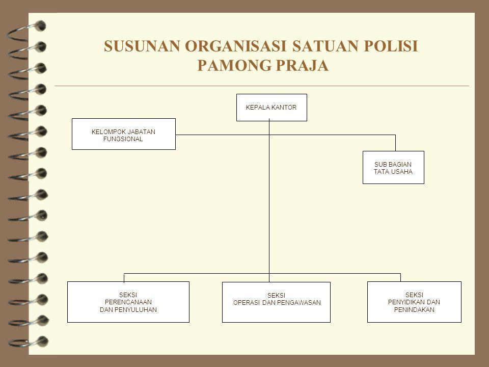 SUSUNAN ORGANISASI SATUAN POLISI PAMONG PRAJA