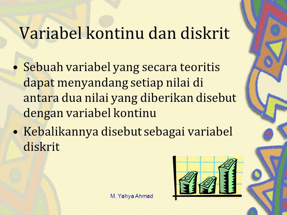 Variabel kontinu dan diskrit