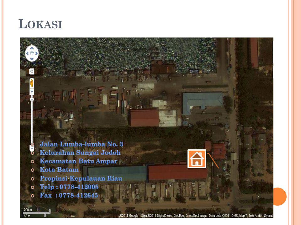 Lokasi Jalan Lumba-lumba No. 3 Kelurahan Sungai Jodoh