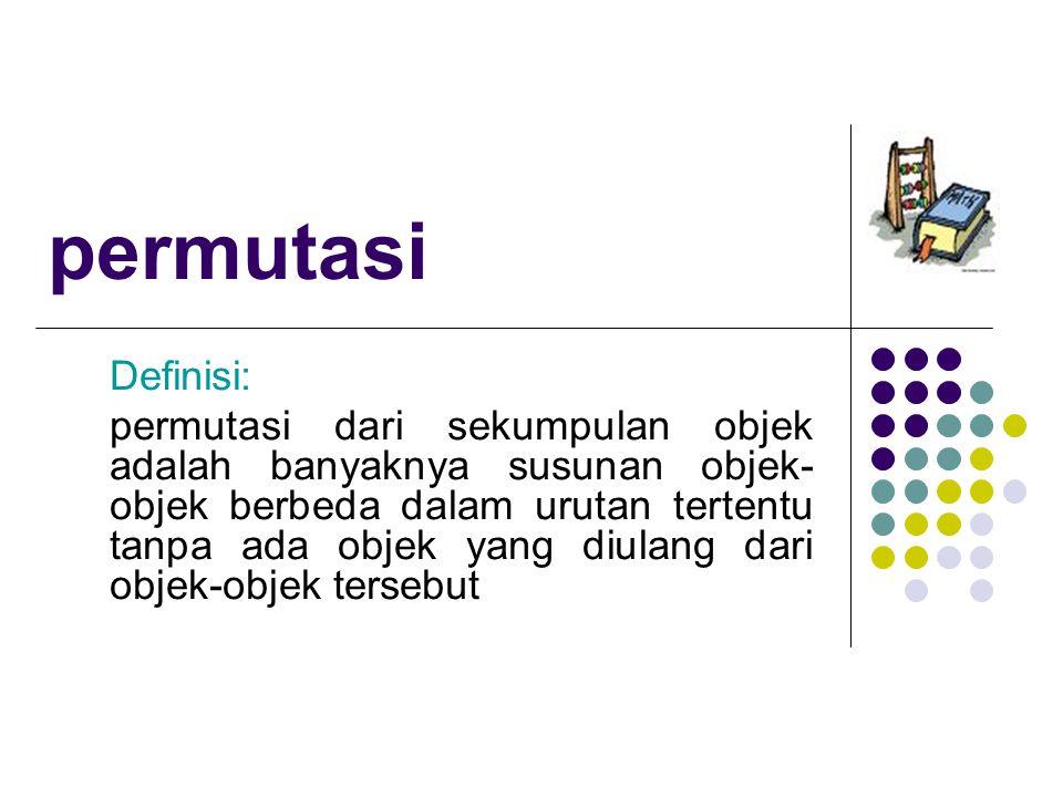 permutasi Definisi: