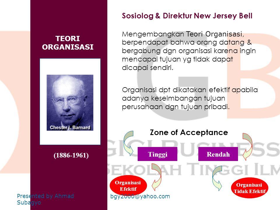 Sosiolog & Direktur New Jersey Bell