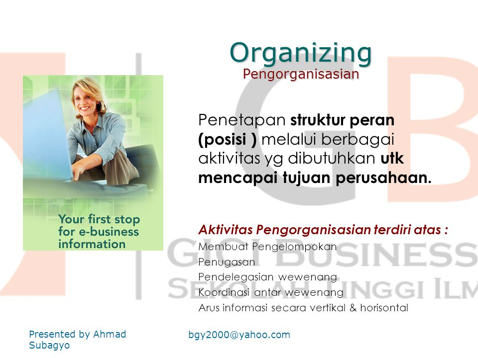 Organizing Pengorganisasian