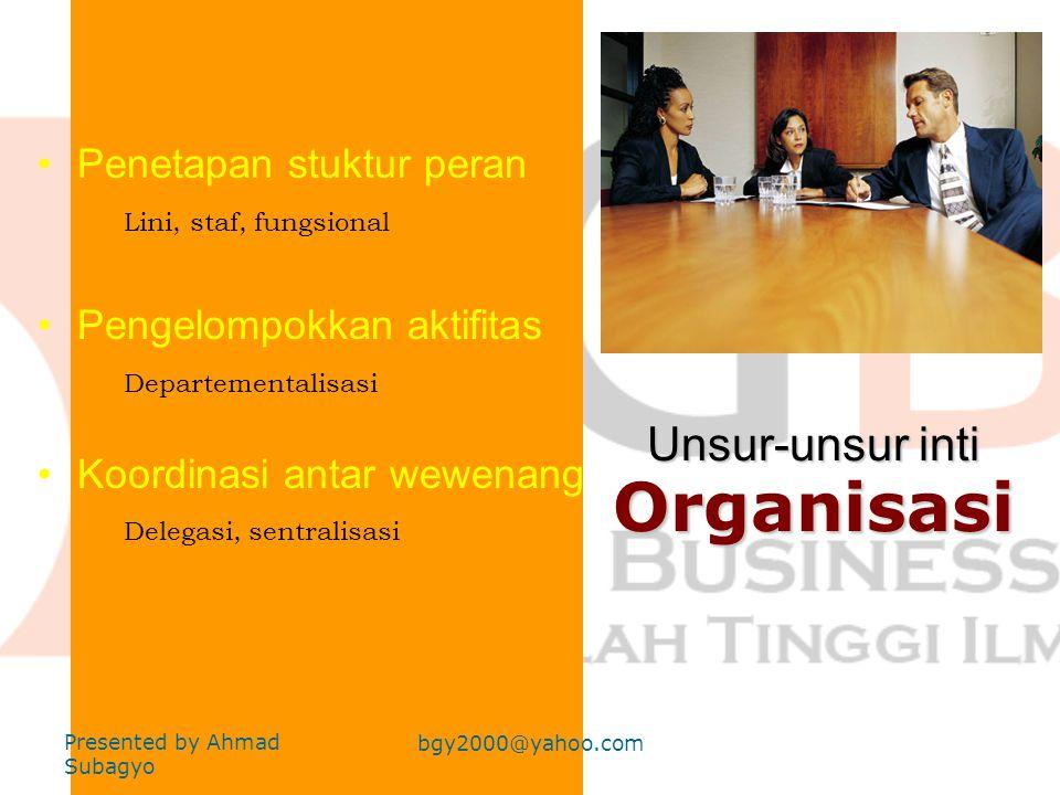 Unsur-unsur inti Organisasi