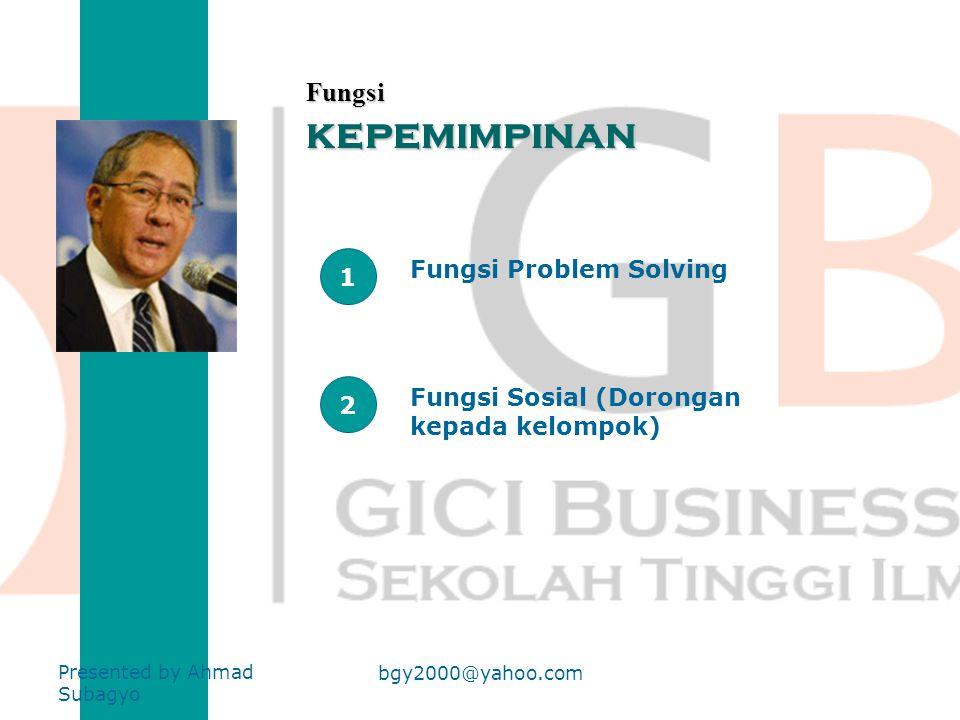 kepemimpinan Fungsi 1 Fungsi Problem Solving 2