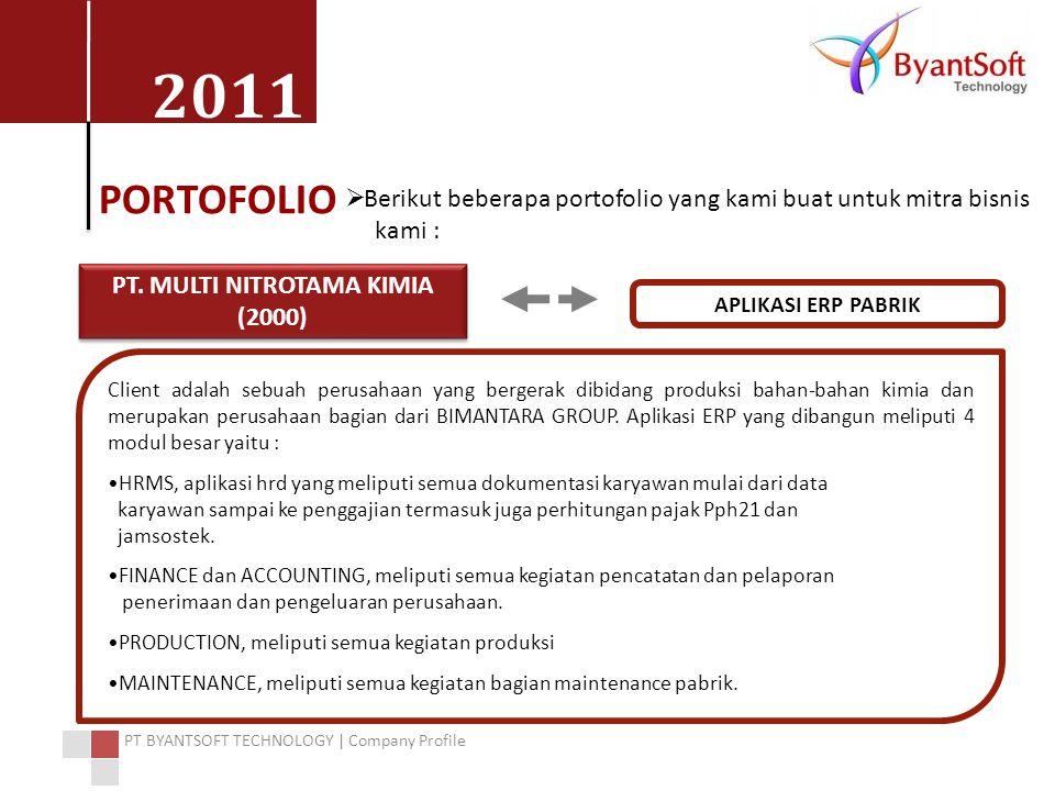 PT. MULTI NITROTAMA KIMIA (2000)