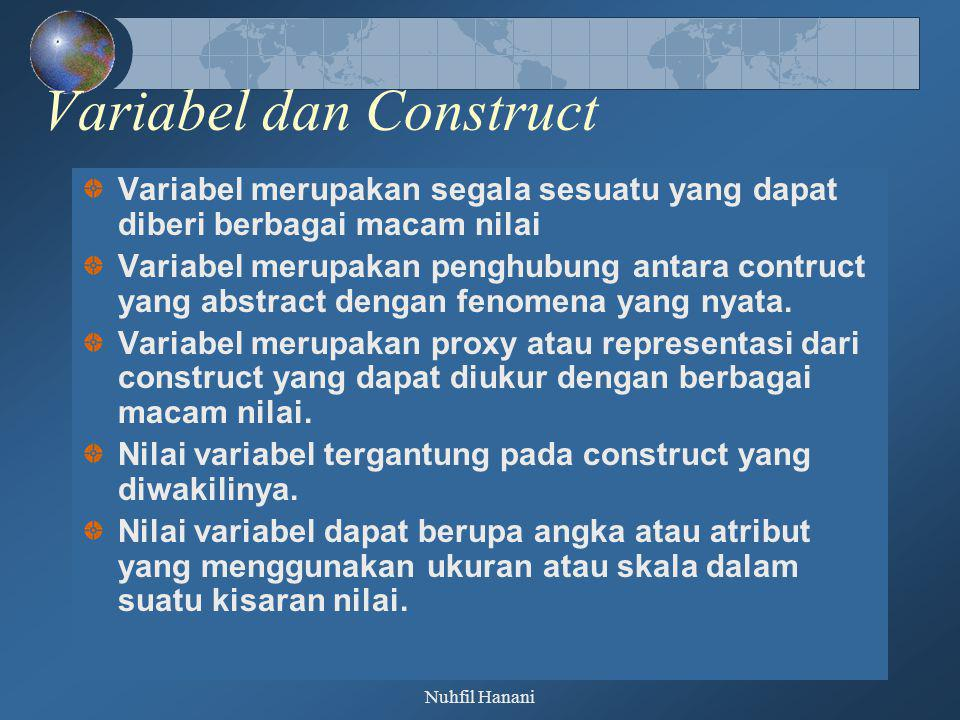 Variabel dan Construct