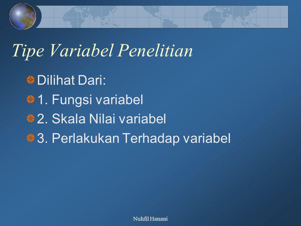 Tipe Variabel Penelitian