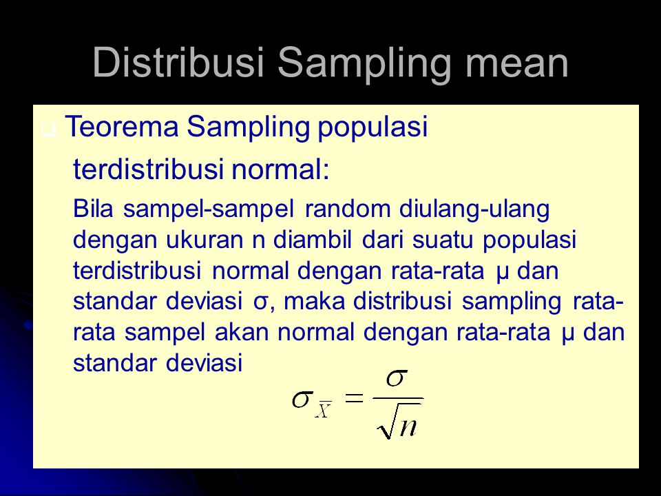 Distribusi Sampling mean