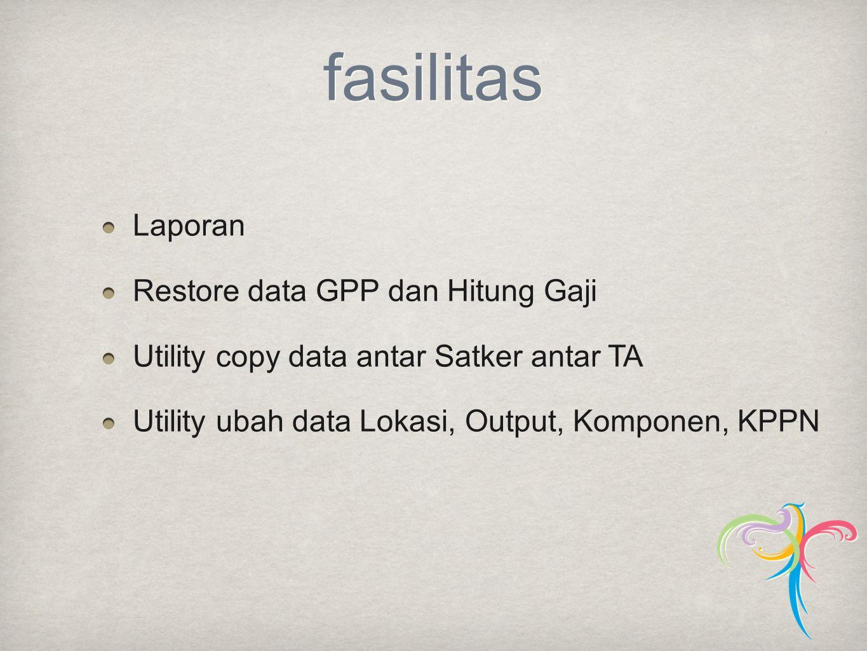 fasilitas Laporan Restore data GPP dan Hitung Gaji