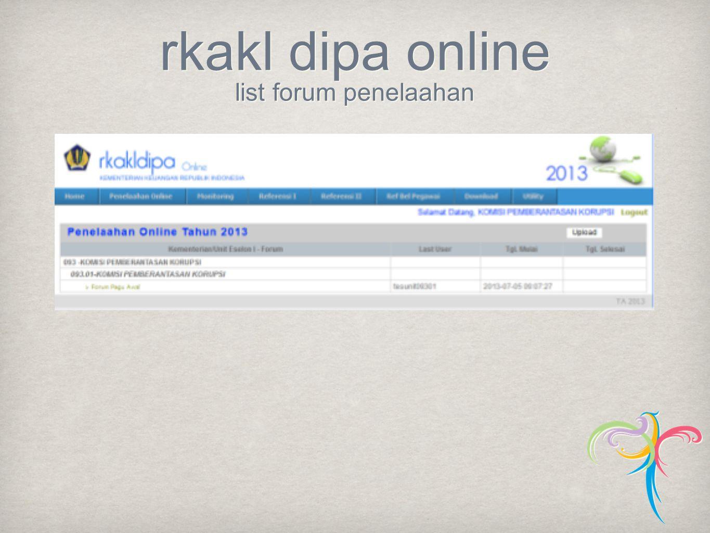 rkakl dipa online list forum penelaahan