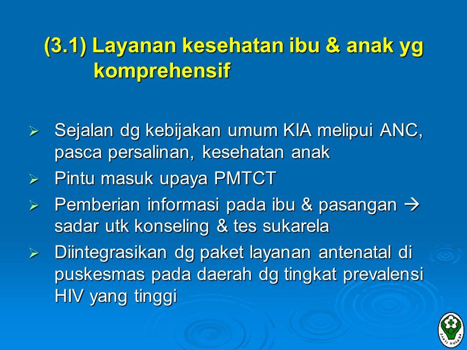 (3.1) Layanan kesehatan ibu & anak yg komprehensif