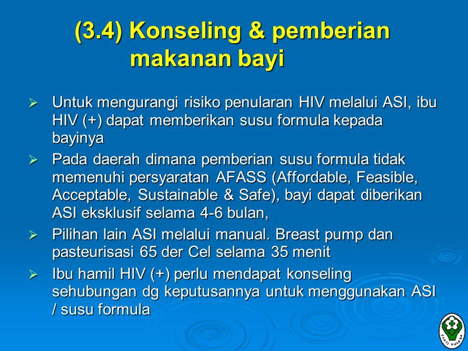 (3.4) Konseling & pemberian makanan bayi