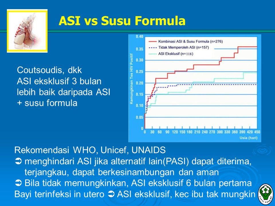 ASI vs Susu Formula Coutsoudis, dkk