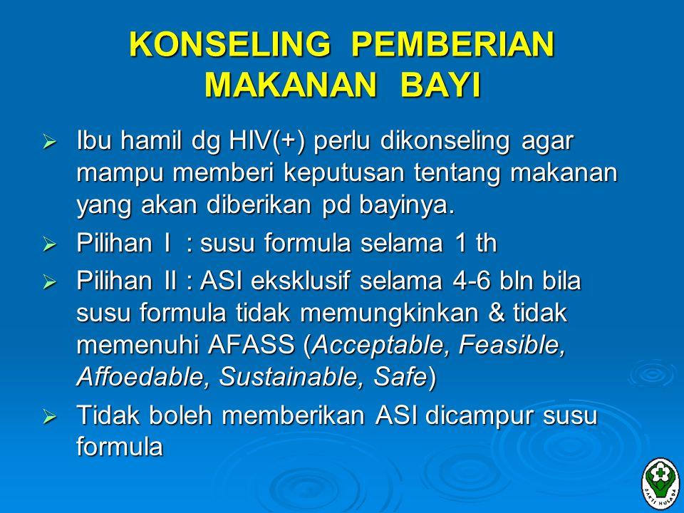 KONSELING PEMBERIAN MAKANAN BAYI