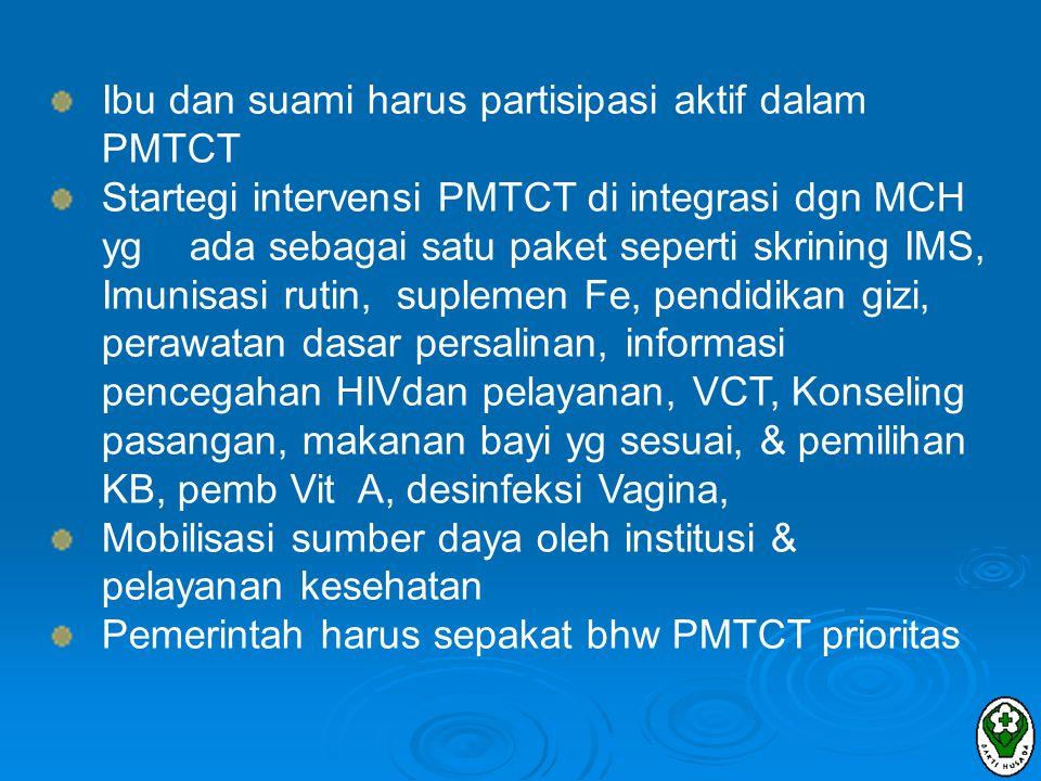 Ibu dan suami harus partisipasi aktif dalam PMTCT