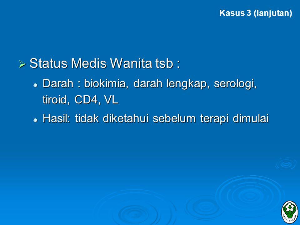 Status Medis Wanita tsb :