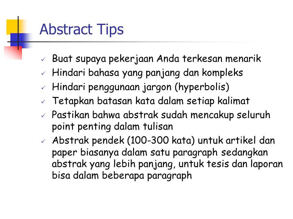 Abstract Tips Buat supaya pekerjaan Anda terkesan menarik