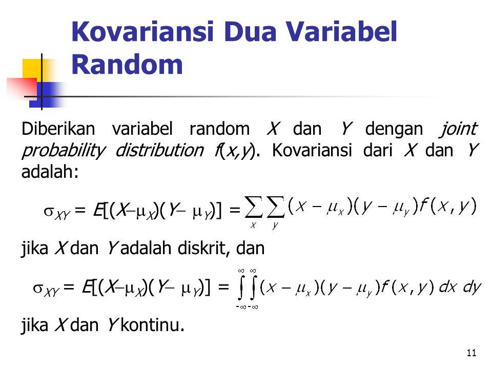 Kovariansi Dua Variabel Random
