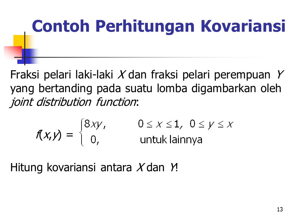 Contoh Perhitungan Kovariansi