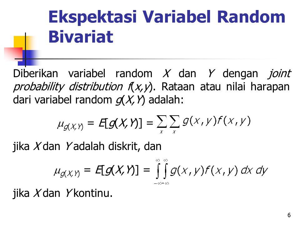 Ekspektasi Variabel Random Bivariat