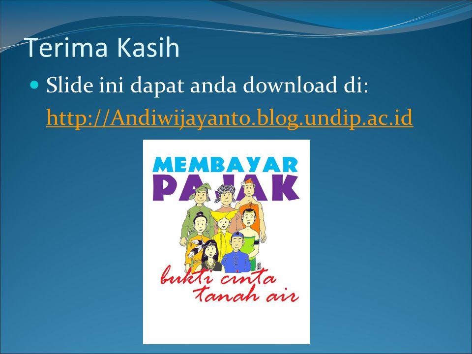 Terima Kasih Slide ini dapat anda download di: