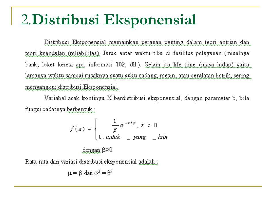 2.Distribusi Eksponensial