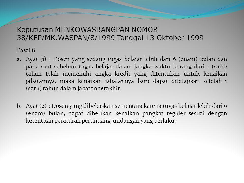 Keputusan MENKOWASBANGPAN NOMOR 38/KEP/MK