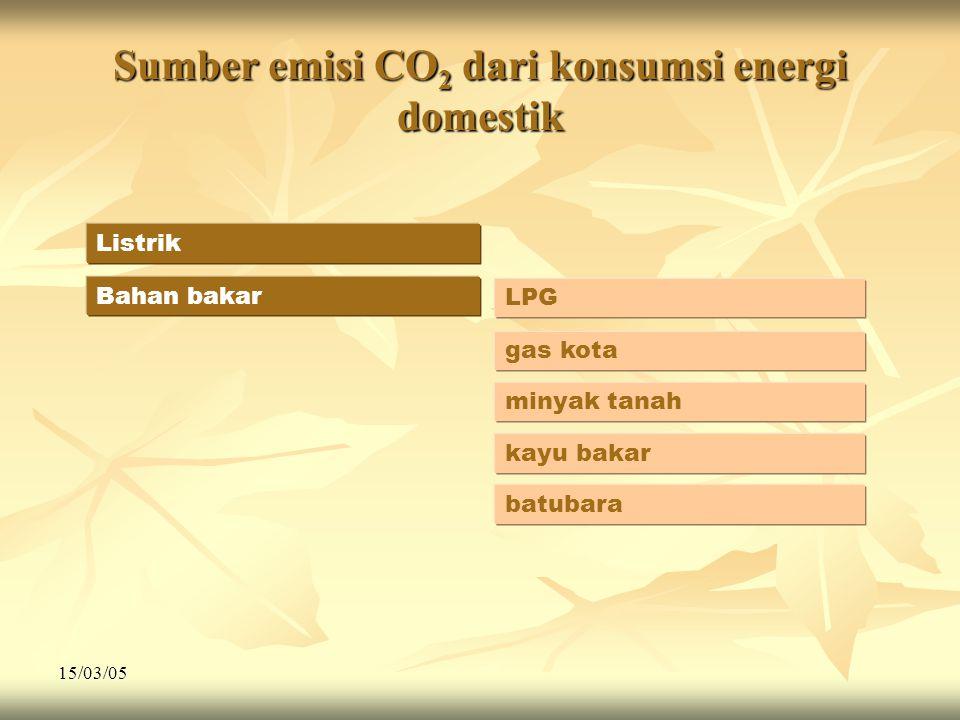 Sumber emisi CO2 dari konsumsi energi domestik