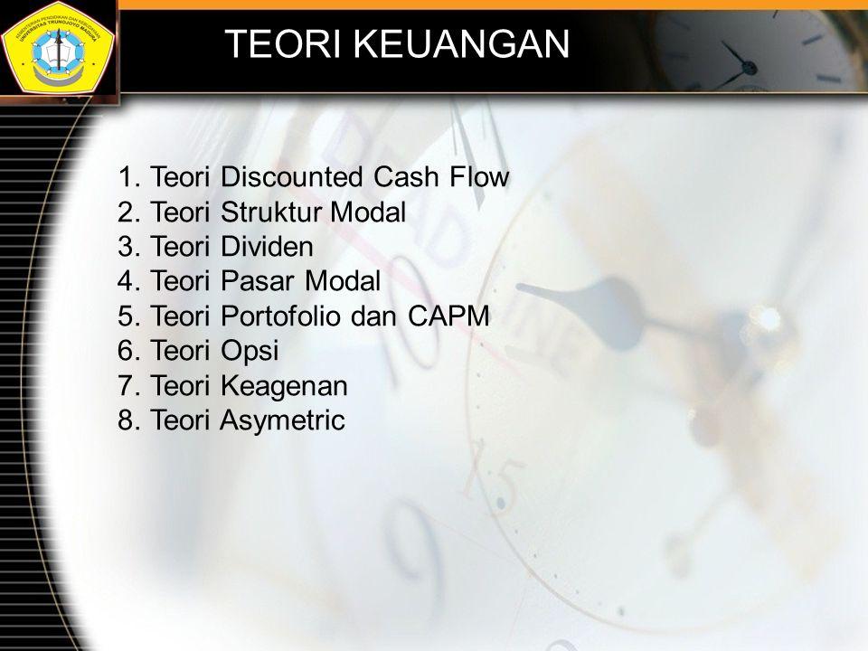 TEORI KEUANGAN Teori Discounted Cash Flow Teori Struktur Modal