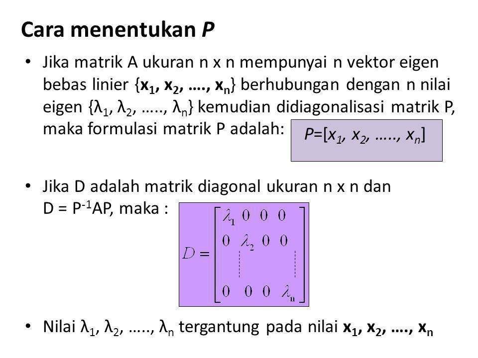 Cara menentukan P