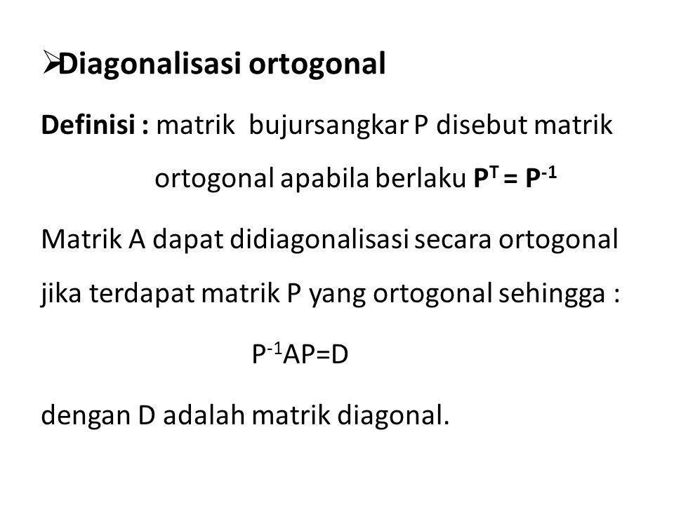 Diagonalisasi ortogonal