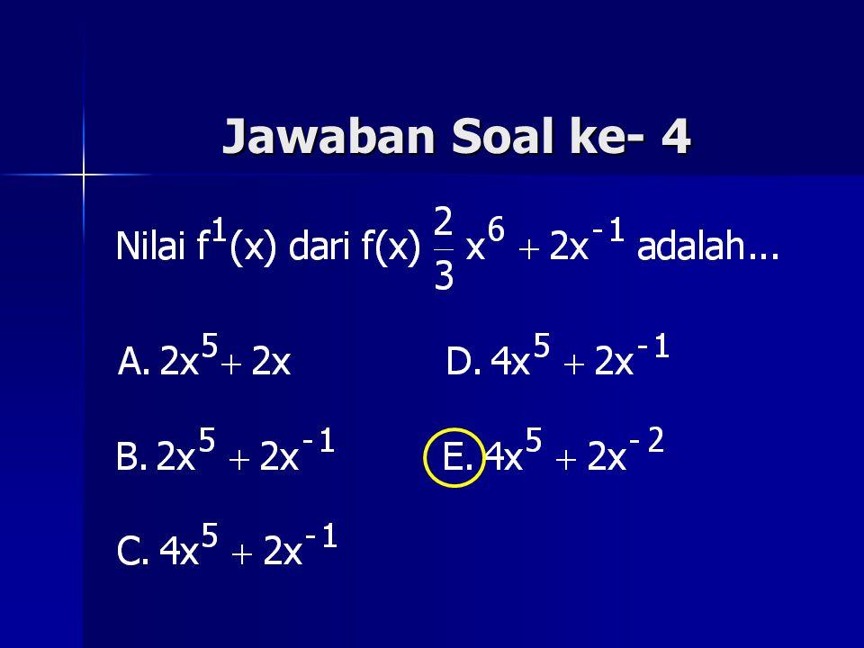 Jawaban Soal ke- 4