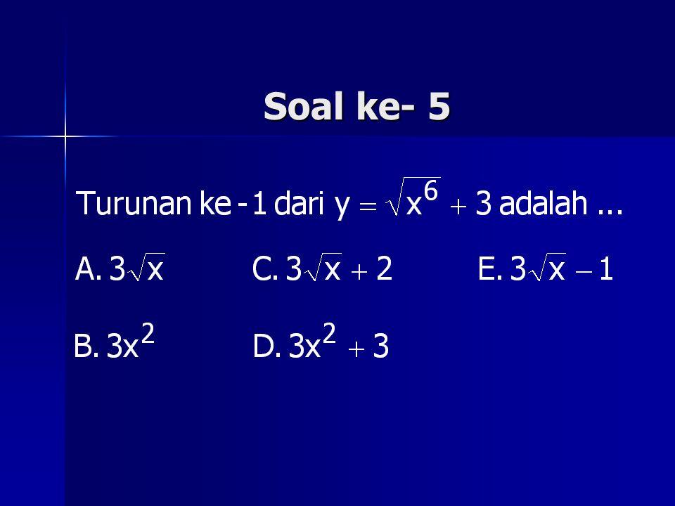 Soal ke- 5