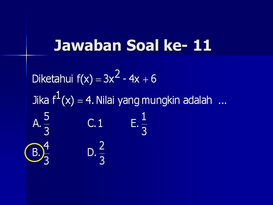 Jawaban Soal ke- 11