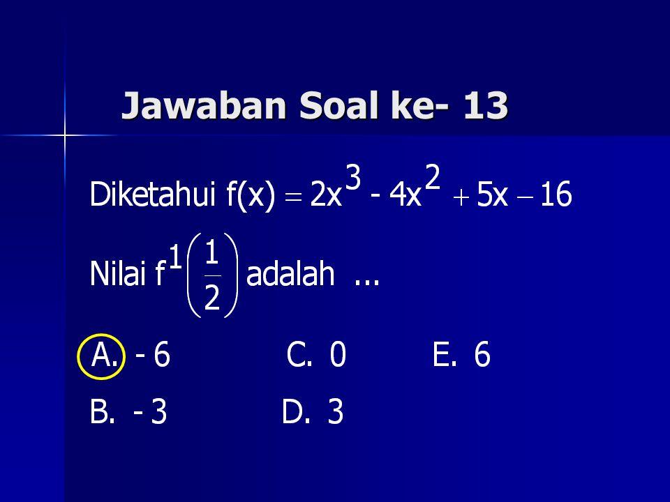 Jawaban Soal ke- 13