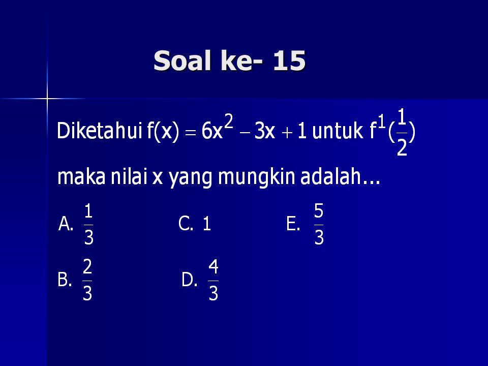 Soal ke- 15