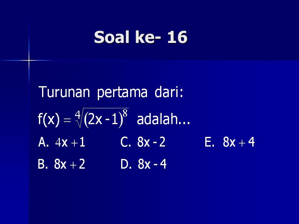 Soal ke- 16
