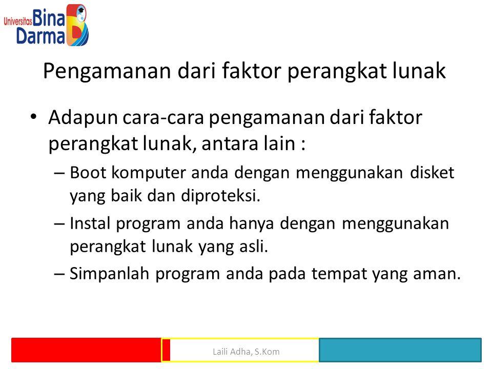 Pengamanan dari faktor perangkat lunak