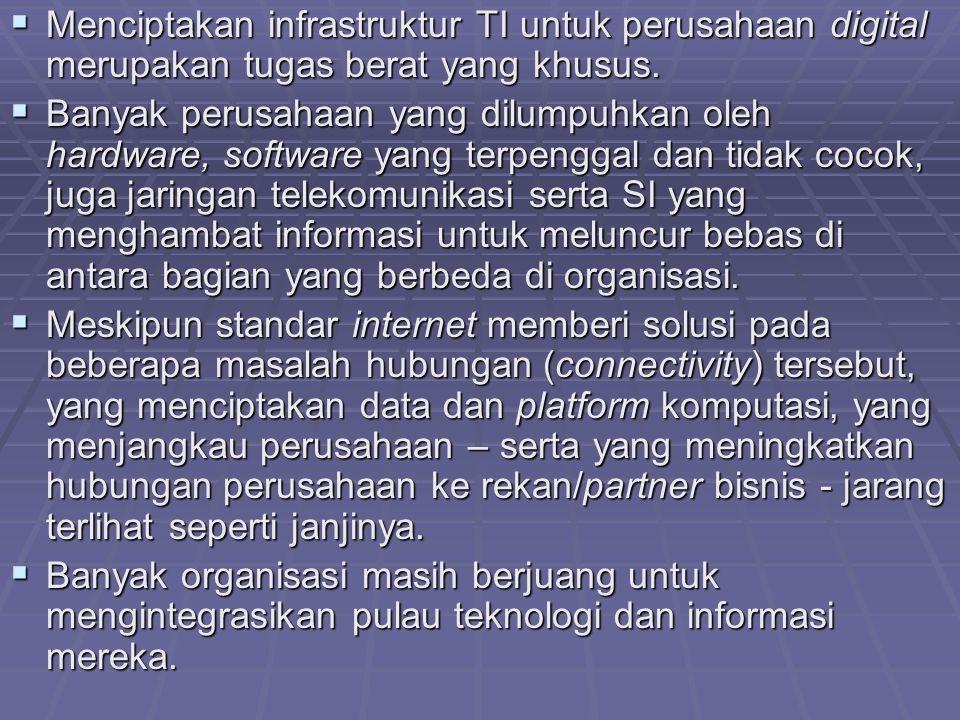 Menciptakan infrastruktur TI untuk perusahaan digital merupakan tugas berat yang khusus.