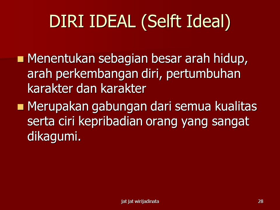 DIRI IDEAL (Selft Ideal)