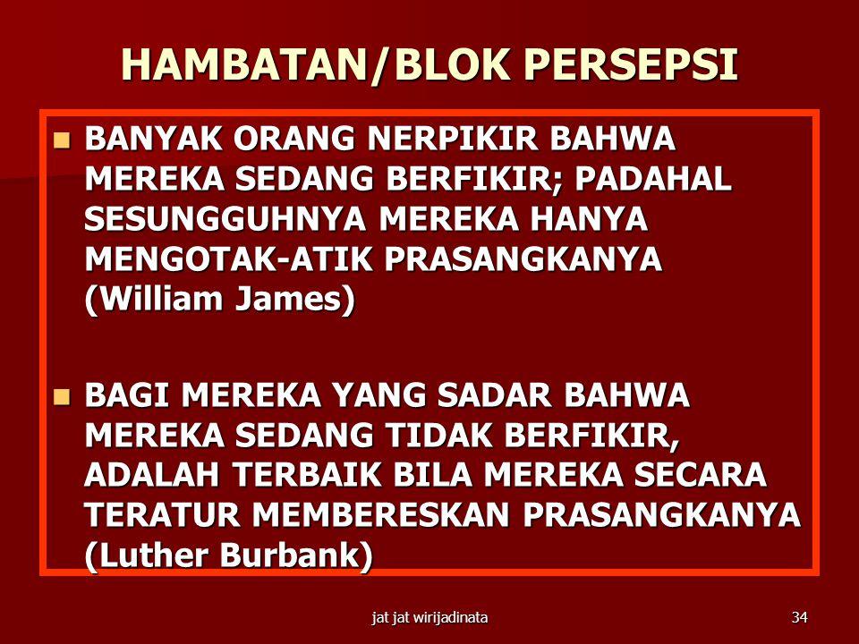 HAMBATAN/BLOK PERSEPSI