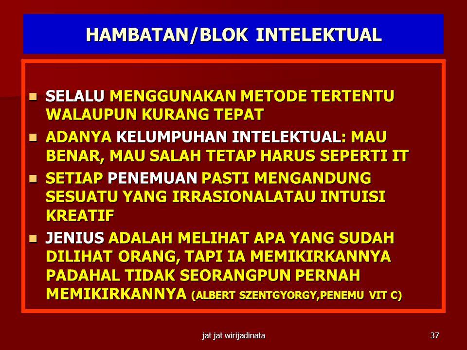 HAMBATAN/BLOK INTELEKTUAL