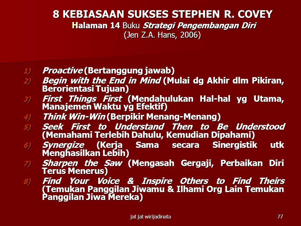 8 KEBIASAAN SUKSES STEPHEN R