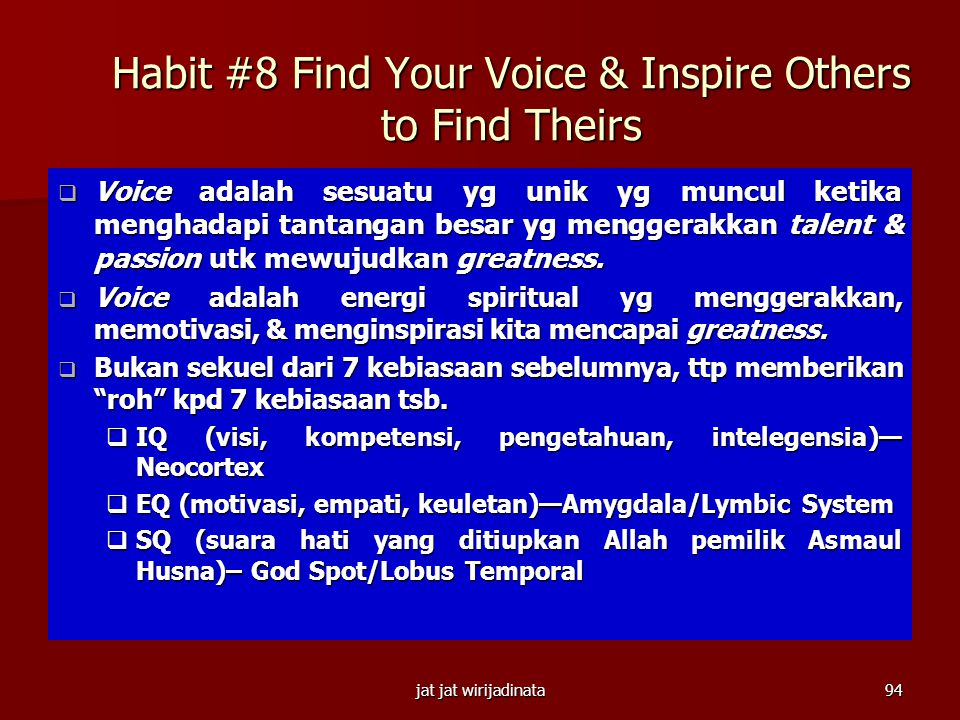 Habit #8 Find Your Voice & Inspire Others to Find Theirs