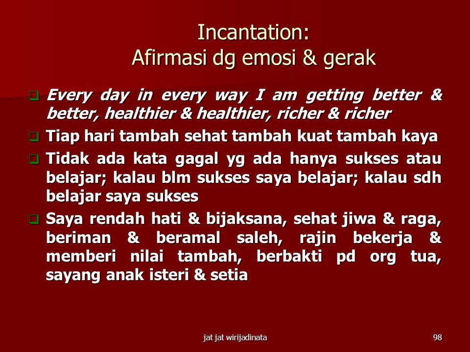 Incantation: Afirmasi dg emosi & gerak