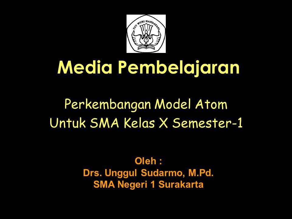 Perkembangan Model Atom Untuk SMA Kelas X Semester-1