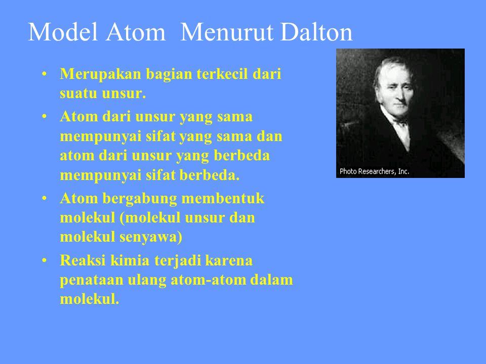 Model Atom Menurut Dalton